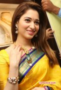 Tamanna In Yellow Sari New Image 408