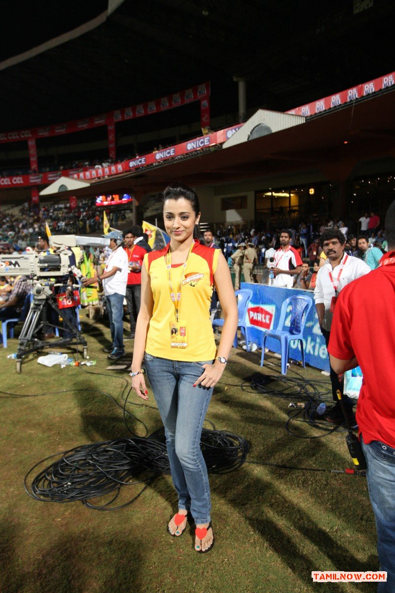Trisha Krishnan At Ccl 4 Photos 1 151