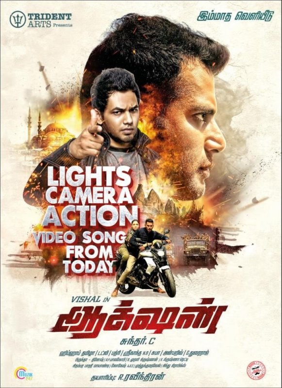 Vishal Movie Action Poster 401