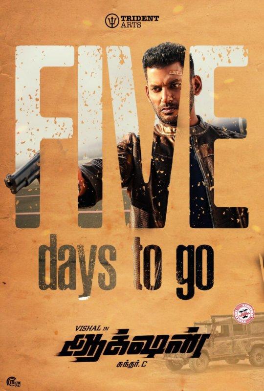 Vishal Movie Action Poster 855