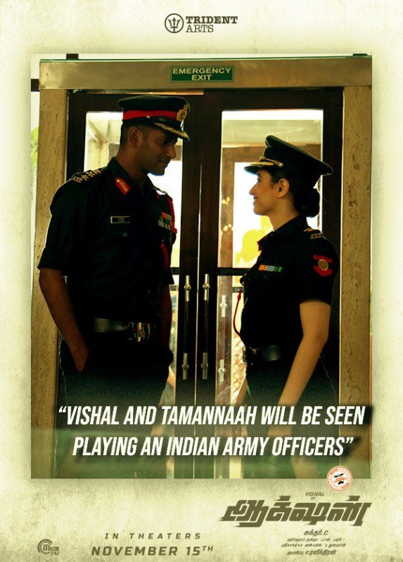 Vishal Tamanna Poster Action Movie 930