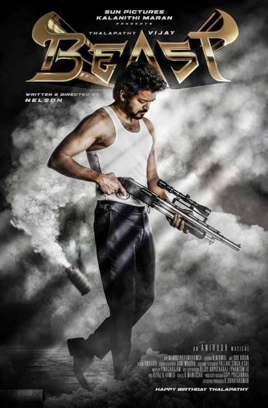 Thalapathy Vijay New Movie Beast First Look Poster 261