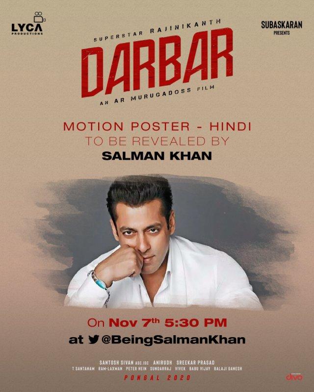 Rajinikant Darbar Hindi Motion Poster Release By Salman Khan 112