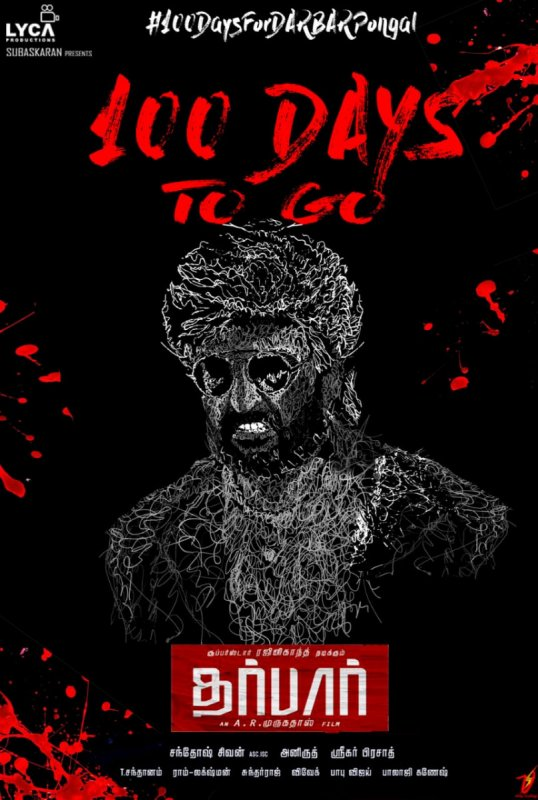 Rajinikant Film Darbar 100 Days To Go Poster 358