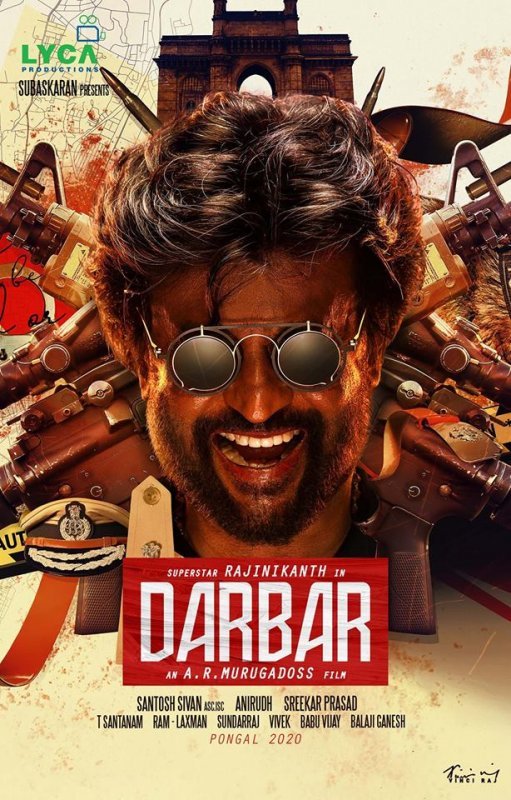 Rajnikant New Movie Darbar Poster 787