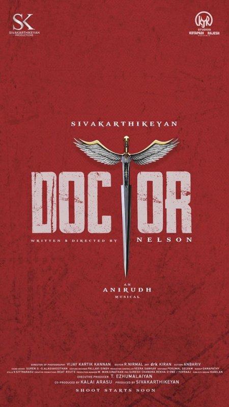Siva Karthikeyan New Film Doctor 65