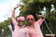 Santhanam And Vishal In Mgr 792