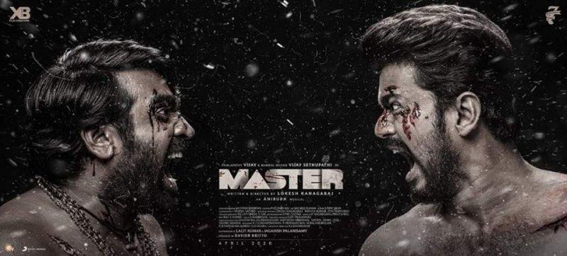 Master 3rd Look Poster Vijay And Vijay Sethupathi 734