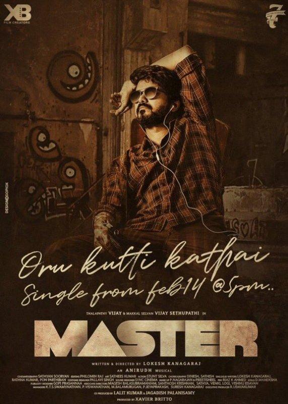 Oru Kutti Katha Single Poster From Master Movie Vijay 720