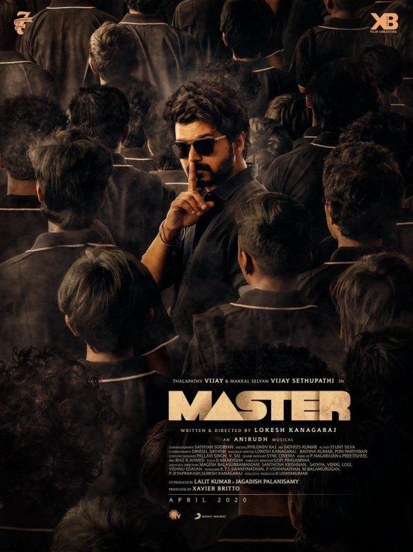Vijay In Master Movie Second Poster 450