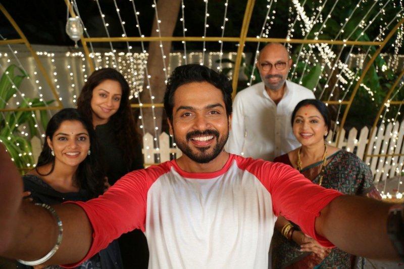 Thambi Movie Still Karthi Jyothika Sathyaraj 220