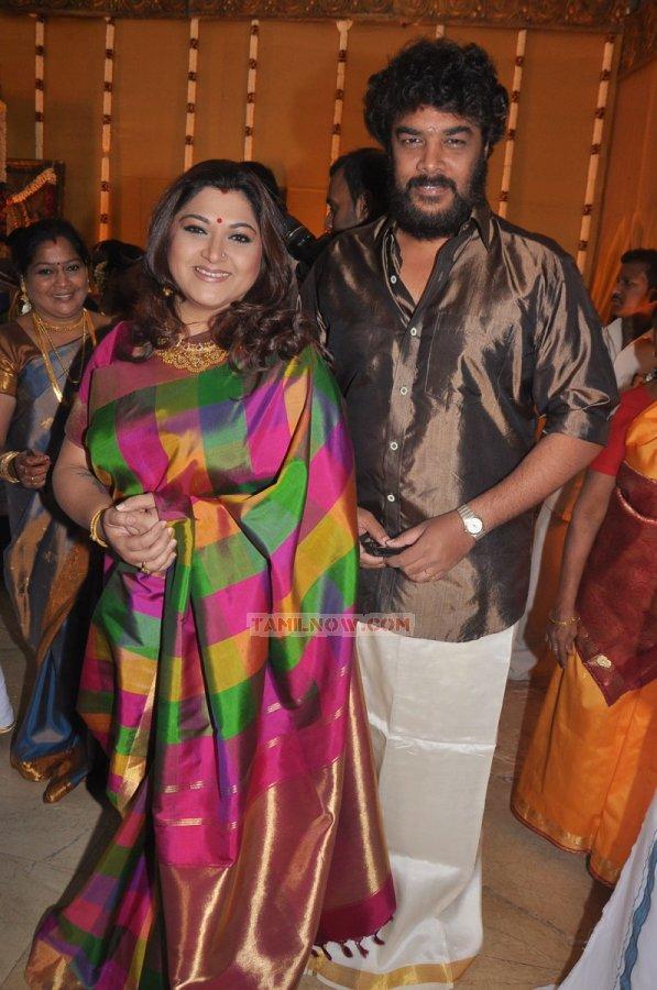 khushbu and sundar at shiva wedding 177 tamil movie