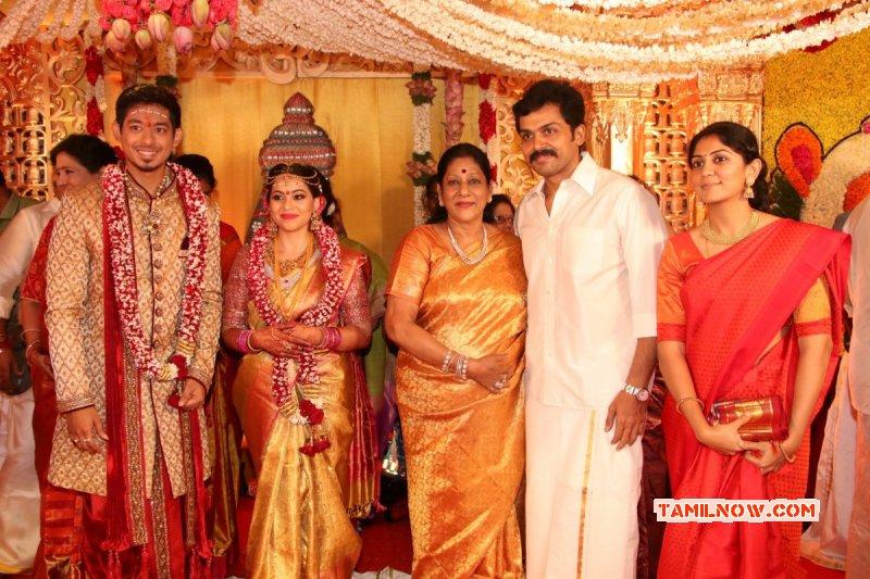 Aug 2017 Albums Actor Vishal Sister Aishwarya Wedding Tamil Event 4993
