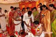 Aug 2017 Stills Tamil Function Actor Vishal Sister Aishwarya Wedding 1210