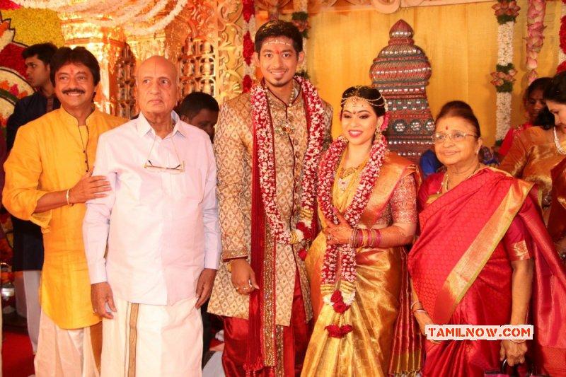 New Pics Actor Vishal Sister Aishwarya Wedding Event 9618