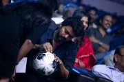 Vijay Signs Football At Bigil Audio Launch 743
