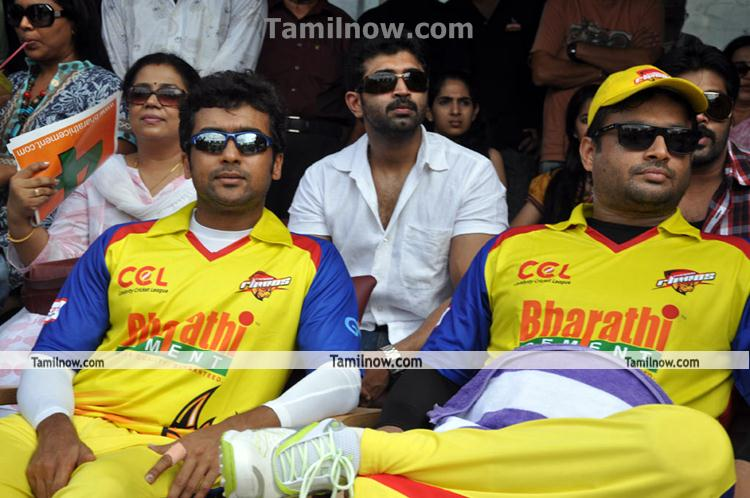 ... At Ccl - Tamil Movie Event Celebrity Cricket League Match Photos