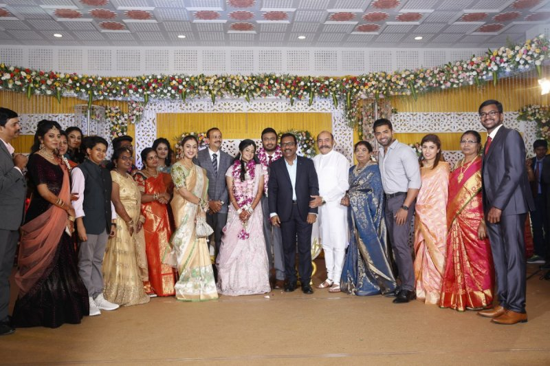 Charlie Son Adhithiya Wedding Reception 2019 Stills 3677