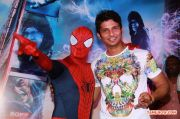 Jiiva Unveils Spiderman At Forum Mall