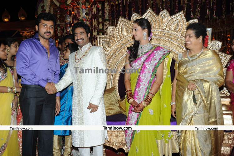 Tamil Movie Events Jr ntr marriage Photos : Karthi at ntr wedding