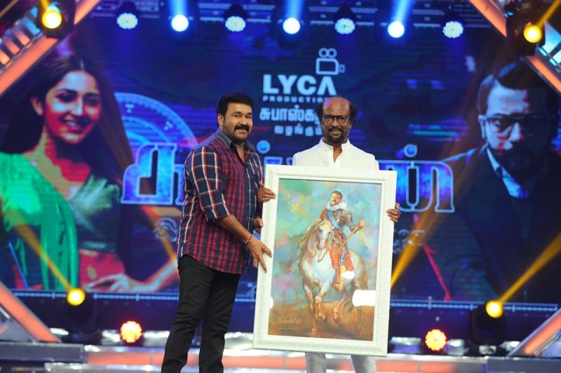 Kaappaan Audio Launch Mohanlal Rajnikant 342