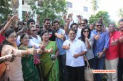 New Office Bearers Visit Nadigar Sangam Land Tamil Movie Event 2015 Pictures 2894