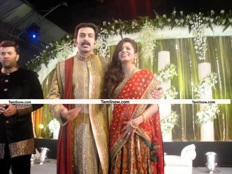 Prithviraj Supriya Wedding Reception Photo 4 Tamil Movie Event
