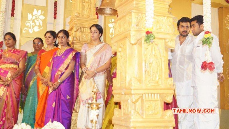Siva Kumar Surya Karthi Family At Sr Prabhu Marriage Event