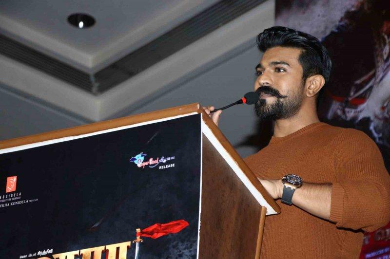 Ramcharan Speaking At Sye Raa Pressmeet 314