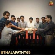 New Image Thalapathy 65 Poojai Function 6277