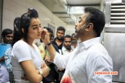 Thoongavanam Working Stills