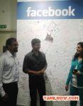 Vijay At Celebrity Meet In Facebook India Office Stills 9950